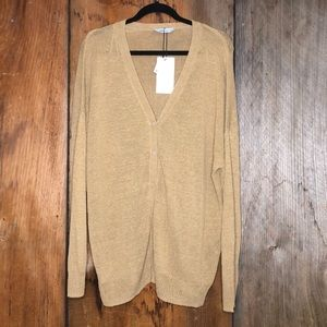 Zara Knit Linen Blend Cardigan Size Large NWT